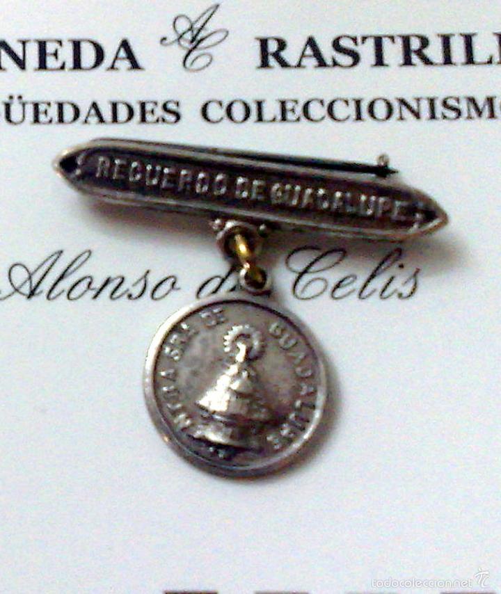Antigüedades: MEDALLA O PRENDEDOR. -.RECUERDO DE GUADALUPE.- - Foto 2 - 32927975