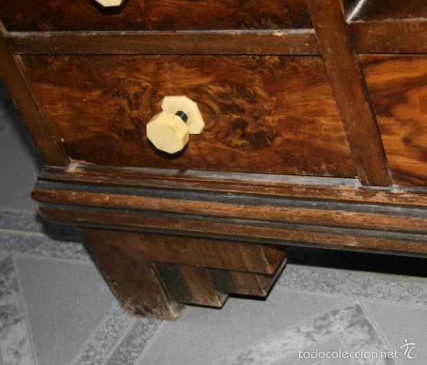 Antigüedades: BONITO TOCADOR ANTIGUO ART DECO, AÑOS 30, MADERA BUENA CHAPADA - Foto 10 - 56034891