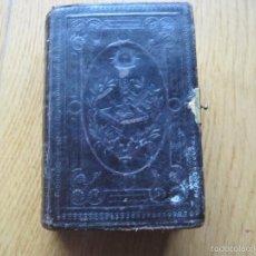 Antigüedades: ANTIGUO MISAL TAPAS DE PIEL. Lote 56037699