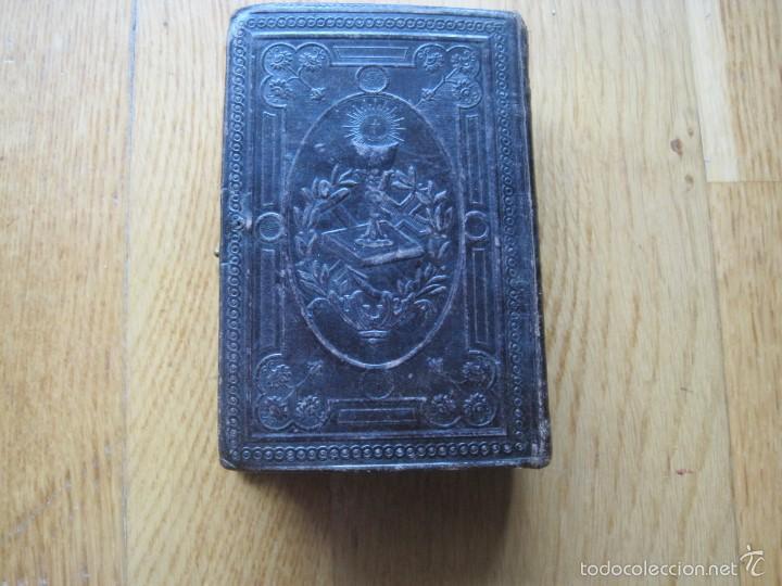 Antigüedades: ANTIGUO MISAL TAPAS DE PIEL - Foto 2 - 56037699