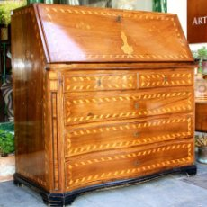 Antigüedades: CANTERANO CATALÁN. FRONTAL ABOMBADO. MARQUETERIA DE BOJ Y NOGAL.CATALUNYA. XVIII. Lote 73853615
