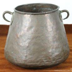 Antigüedades: OLLA EN COBRE. AMARTILLADO A MANO. SIGLO XVIII-XIX. . Lote 56067158