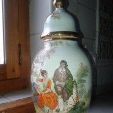 Antigüedades: JARRÓN O TIBOR MANISES PINTADO A MANO. FIRMADO C. ZARA .. Lote 56082437