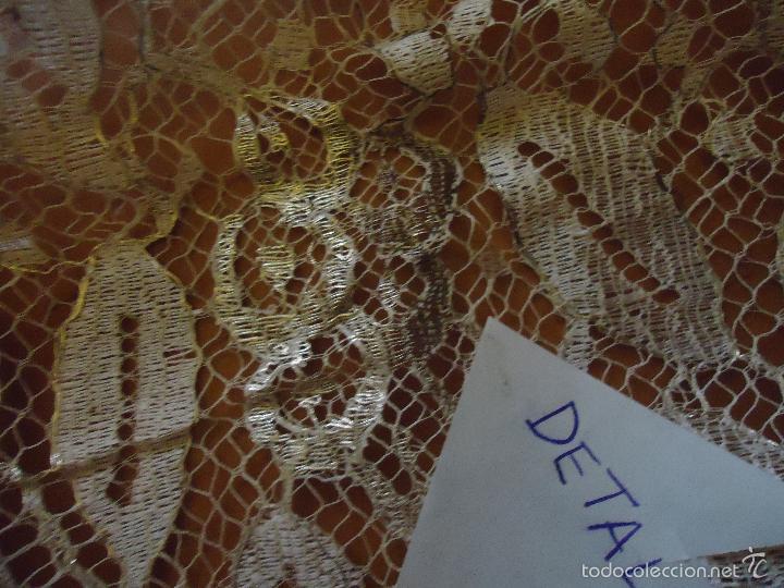 Antigüedades: ESPECTACULAR BLONDA FRANCESA ENCAJE 460X87 PLATA METALICA SOBRE BLANCO SEMANA SANTA VIRGEN TOCADO - Foto 29 - 56084109