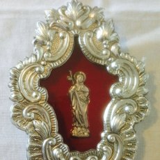 Antigüedades: RELICARIO DE METAL PLATEADO. Lote 56101643