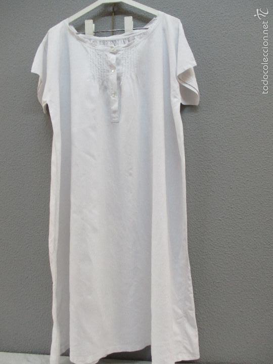 Antigüedades: Antiguo camisón - vestido de hilo - hecho a mano - siglo XIX - Foto 2 - 56115577