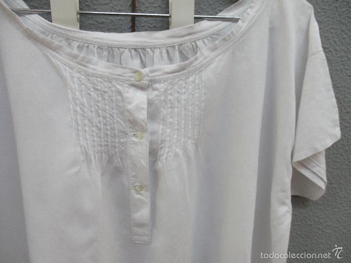 Antigüedades: Antiguo camisón - vestido de hilo - hecho a mano - siglo XIX - Foto 4 - 56115577
