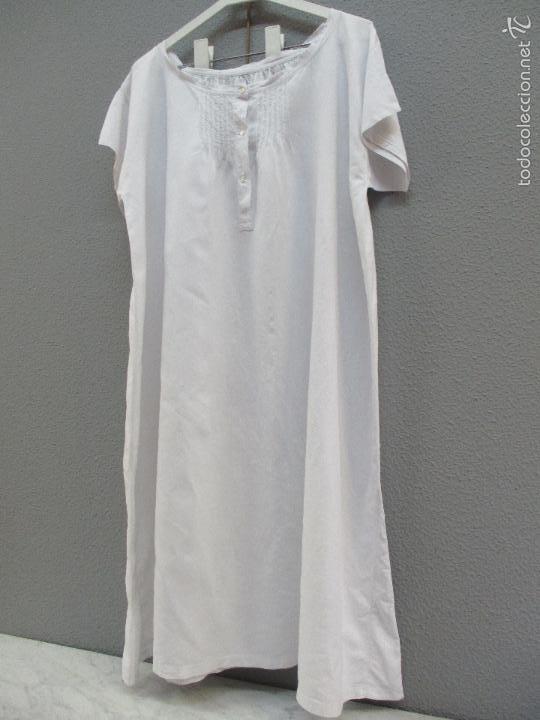 Antigüedades: Antiguo camisón - vestido de hilo - hecho a mano - siglo XIX - Foto 5 - 56115577