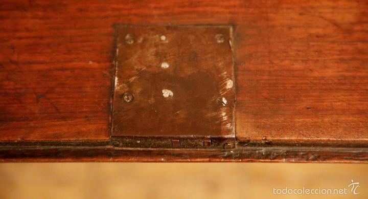 Antigüedades: CANTERANO CATALÁN FILETEADO SIGLO XVIII. EN NOGAL, VER FOTOGRAFÍAS ANEXAS - Foto 4 - 56117493