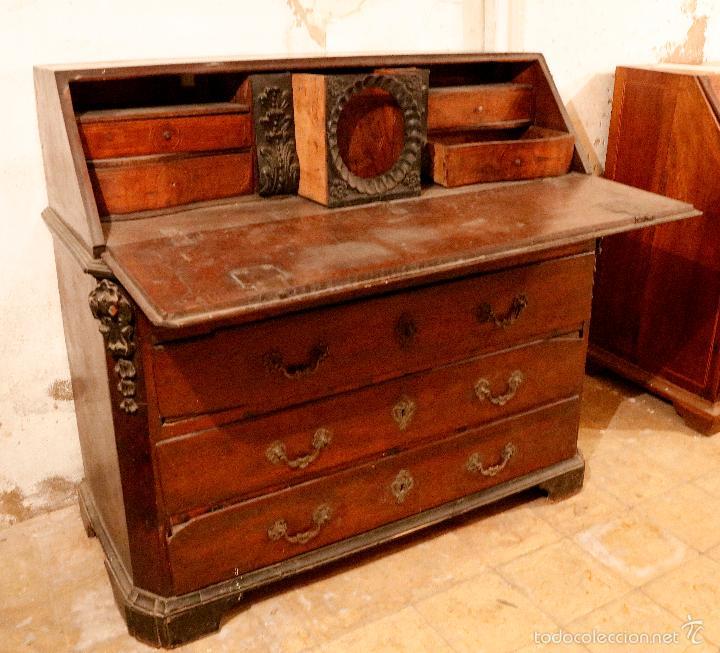 Antigüedades: MAGNÍFICO Y RARO CANTERANO CATALÁN FILETEADO DEL S.XVIII CON 2 CERRADURAS. - Foto 2 - 56117764