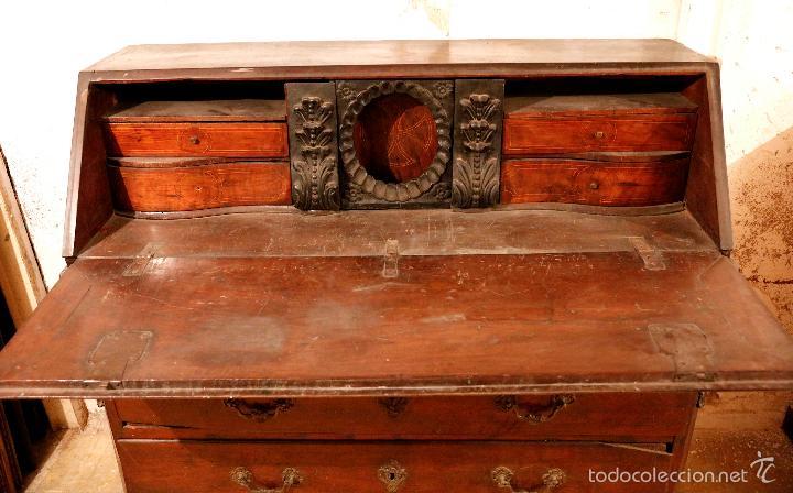 Antigüedades: MAGNÍFICO Y RARO CANTERANO CATALÁN FILETEADO DEL S.XVIII CON 2 CERRADURAS. - Foto 3 - 56117764
