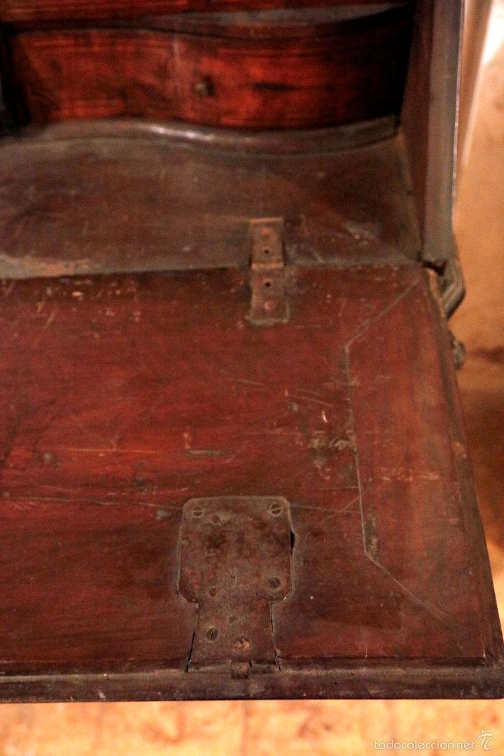 Antigüedades: MAGNÍFICO Y RARO CANTERANO CATALÁN FILETEADO DEL S.XVIII CON 2 CERRADURAS. - Foto 7 - 56117764