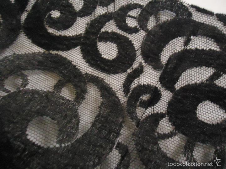 Antigüedades: + D 6 METROS TELA TUL BORDADO PERFECTA TRAJE MANTILLA LUTO BODA MADRINA VIRGEN DOLOROSA SEMANA SANTA - Foto 5 - 56120109