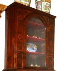Antigüedades: VITRINA-ESCRITORIO. ABATIBLE . NOGAL CON MARQUETERIA. CATALUNYA. ESPAÑA. XVIII. Lote 56122885
