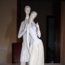 Antigüedades - Rara figura de Lladro de pareja que no esta catalogada - 56125819