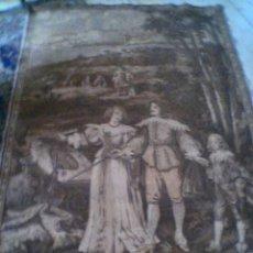 Antiques - 2 Gobelins antiguos (ca. 1890) flamencos, nobles paseando en jardin - 56126567