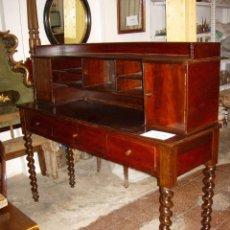 Antigüedades: MUEBLE ESCRITORIO, AÑO 1840 MADERA DE CAOBA. Lote 56126675