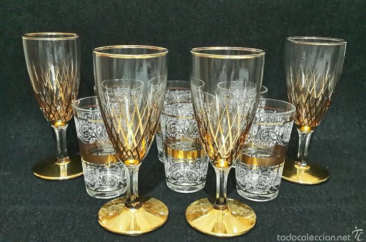 Antiguas copas y vasos en cristal de bohemia y comprar for Vasos copas vidrio