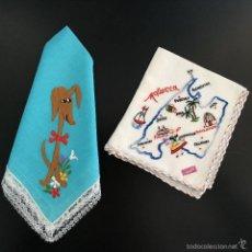 Antigüedades: ANTIGUOS PAÑUELOS INFANTILES BORDADOS. Lote 56132906