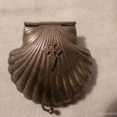 Antigüedades: CONCHA CON LA CRUZ DE SANTIAGO. Lote 56144818