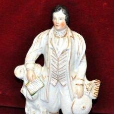 Antigüedades: BELLA PORCELANA DE MANUFACTURA STAFFORDSHIRE DE FINALES SIGLO XIX. ROBERT BURNS. Lote 56148872