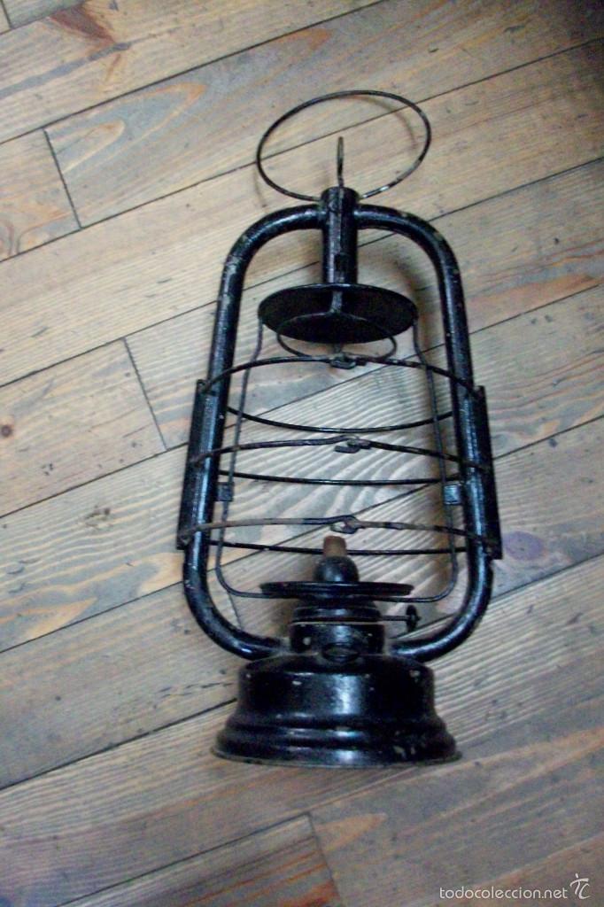 ANTIGUO FAROL (Antigüedades - Iluminación - Faroles Antiguos)