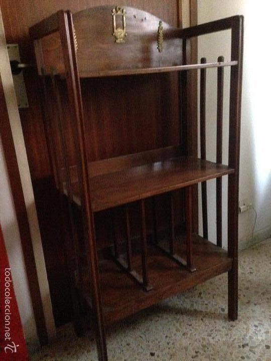ANTIGÜO MUEBLE MODERNISTA MUSIQUERO (Antigüedades - Muebles Antiguos - Auxiliares Antiguos)