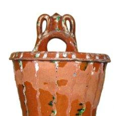 Antigüedades: CUCHARERO DE CERAMICA POPULAR S. XIX. Lote 56158005