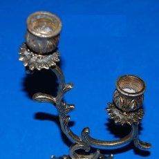 Antigüedades: PORTAVELAS DE BRONCE. Lote 56158666