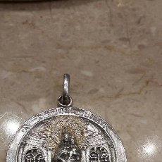 Antigüedades: MEDALLA DE PLATA VIRGEN DE NUESTRA SEÑORA DEL PILAR. FIRMADA M.R.. Lote 56169990