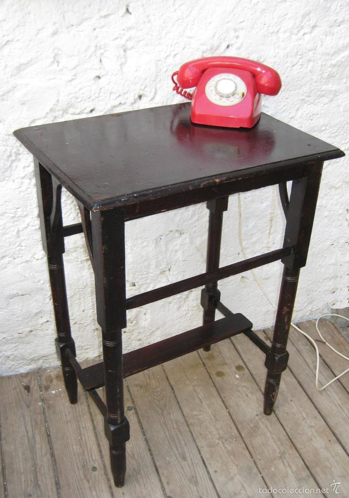 Mesa mesita madera modernista circa 1910 antigu comprar - Mesas auxiliares antiguas ...