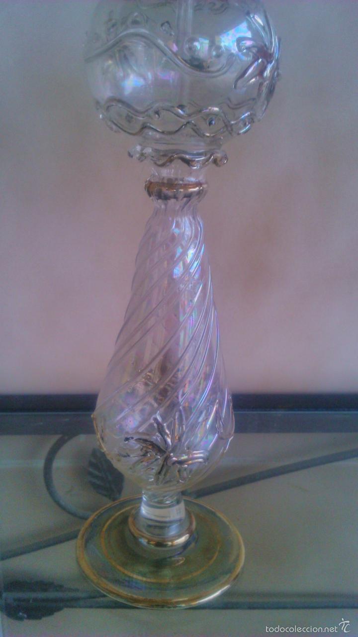 Antigüedades: Exquisito perfumero de cristal baccarat, fino,dibujos en relieve y decorado con metales preciosos. - Foto 4 - 56189977