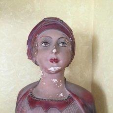Antigüedades: PRECIOSO ESPECTACULAR BUSTO PRINCIPIOS DE SIGLO - MODERNISTA - ART DECO NOUVEAU DECORACION VINTAGE. Lote 56190994