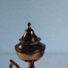 Antigüedades: CANDIL DE ACEITE DE BRONCE. Lote 56198322