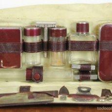 Antigüedades: NECESER DE VIAJE DE CABALLERO COMPLETO. CIRCA 1960. . Lote 56198942