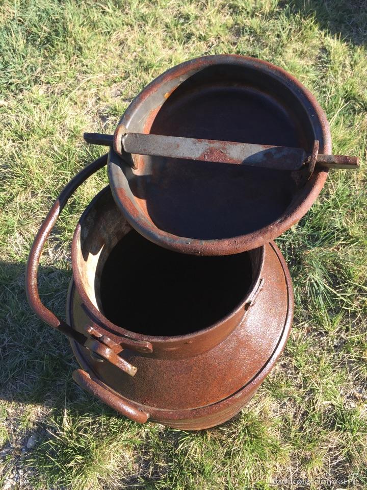 Antigüedades: Lechera antigua hierro forjado. - Foto 2 - 56199734