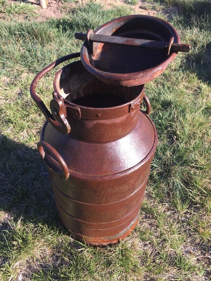Antigüedades: Lechera antigua hierro forjado. - Foto 3 - 56199734