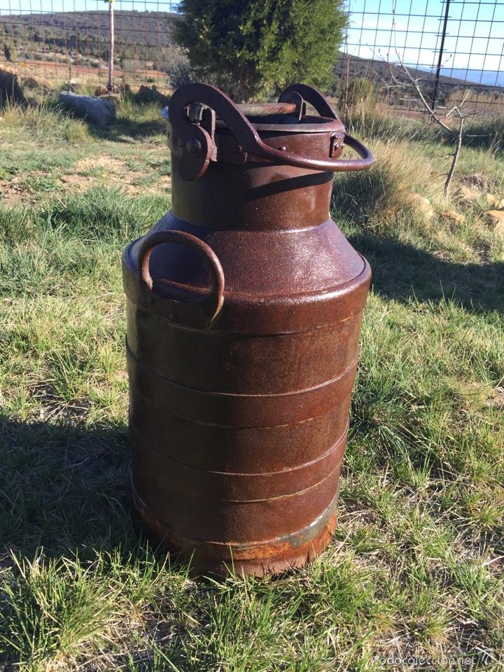 Antigüedades: Lechera antigua hierro forjado. - Foto 4 - 56199734