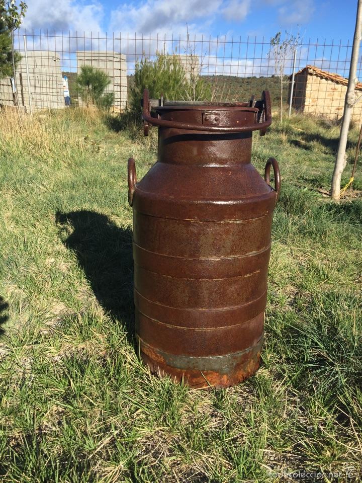 Antigüedades: Lechera antigua hierro forjado. - Foto 5 - 56199734