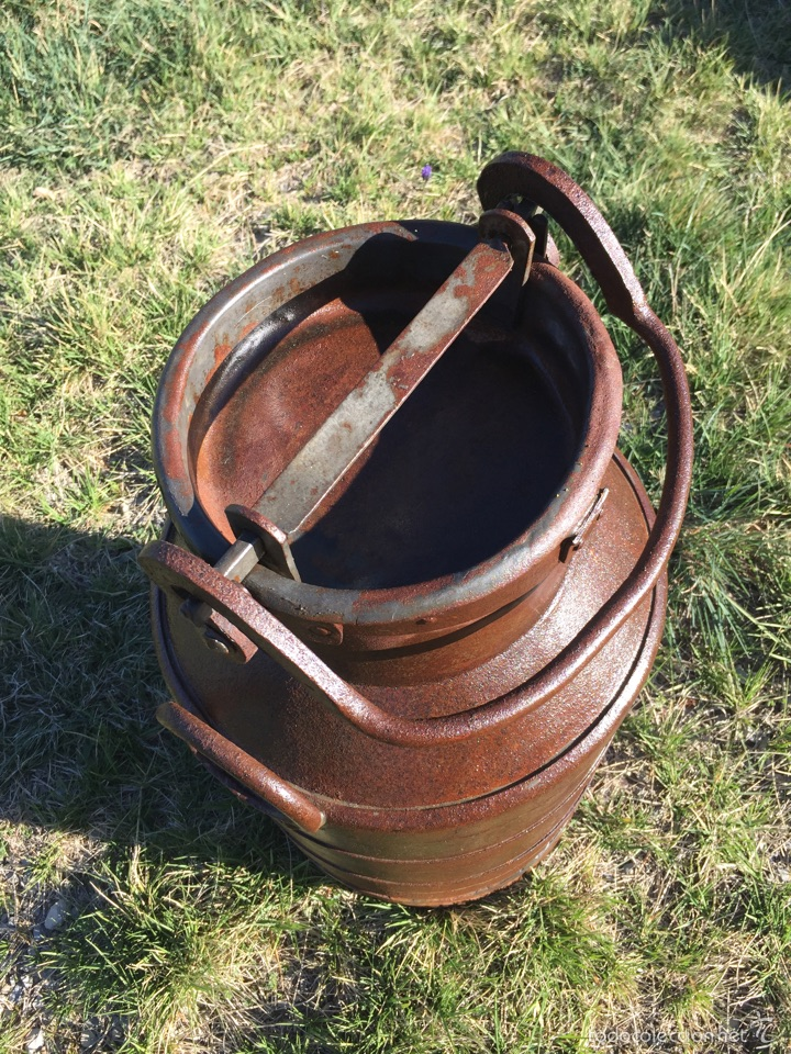 Antigüedades: Lechera antigua hierro forjado. - Foto 6 - 56199734