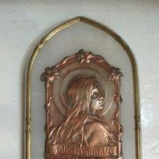 Antigüedades: ANTIGUA BENDITERA DE MARMOL Y BRONCE. FIRMADA: S.KINGSBURGER. Lote 56209931