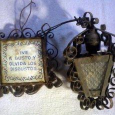 Antigüedades: DECORACON ANTIGUA SUPORTE BOMBILLA XIX. Lote 56217078