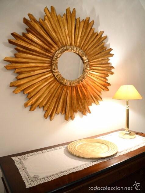 espejo en forma de sol 1m de dimetro Comprar Espejos Antiguos en