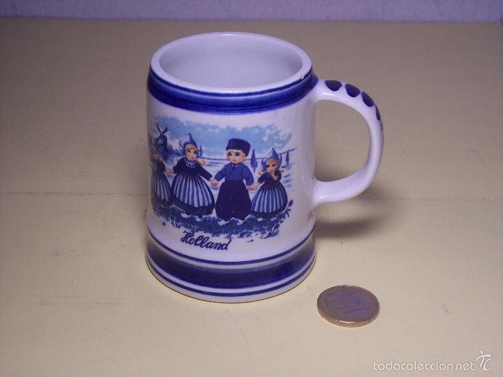 PEQUEÑA JARRA DE CERAMICA DELFTS BLUE (HECHA EN HOLANDA) (Antigüedades - Porcelana y Cerámica - Holandesa - Delft)