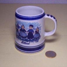 Antigüedades: PEQUEÑA JARRA DE CERAMICA DELFTS BLUE (HECHA EN HOLANDA). Lote 56220435