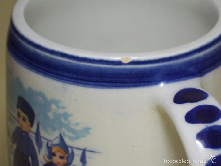 Antigüedades: PEQUEÑA JARRA DE CERAMICA DELFTS BLUE (HECHA EN HOLANDA) - Foto 4 - 56220435