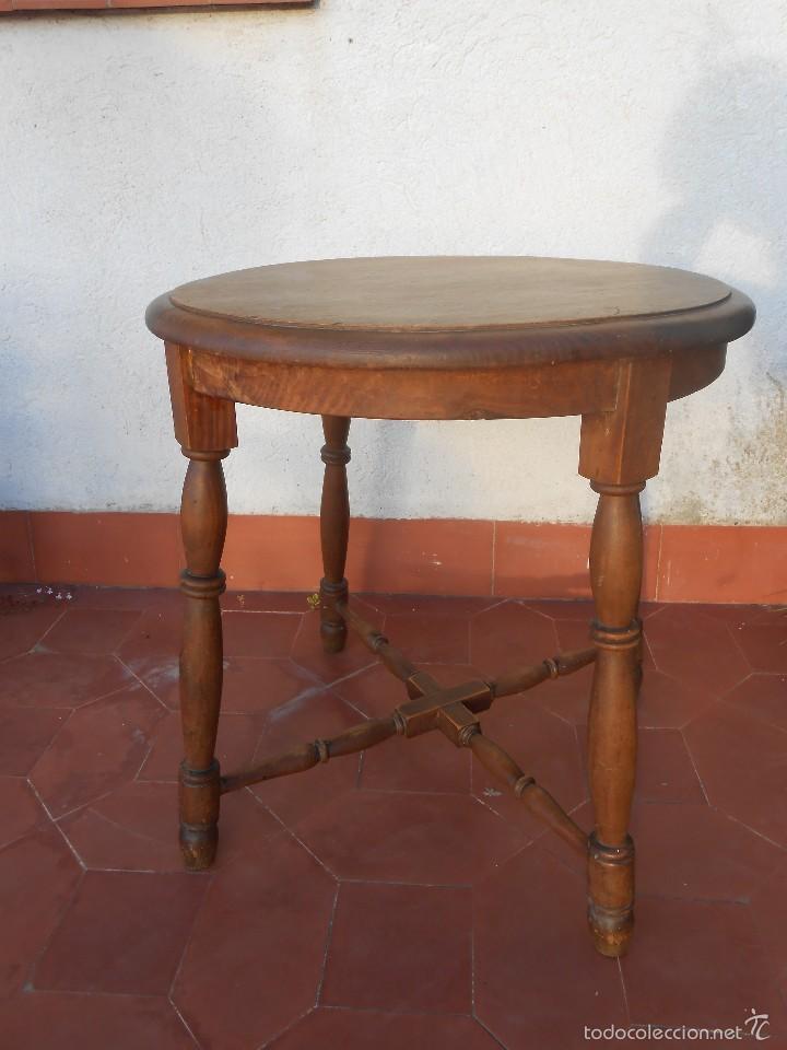 Antigüedades: Mesa de Madera -Años 50- - Foto 2 - 56221100