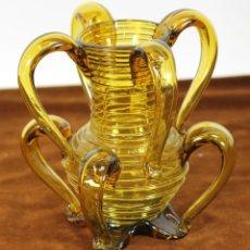 Antigüedades: CENTRO DE MESA EN CRISTAL SOPLADO. MALLORQUIN. CIRCA 1950. . Lote 56233014
