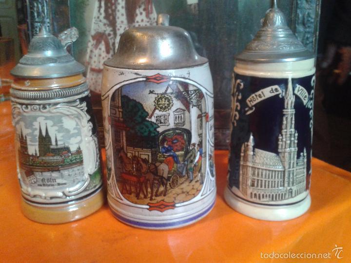 JARRAS ALEMANAS DE CERVEZA (Antigüedades - Porcelana y Cerámica - Alemana - Meissen)