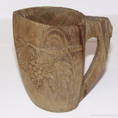 Antigüedades: ANTIGUA JARRA DE MADERA TALLADA. Lote 56238731